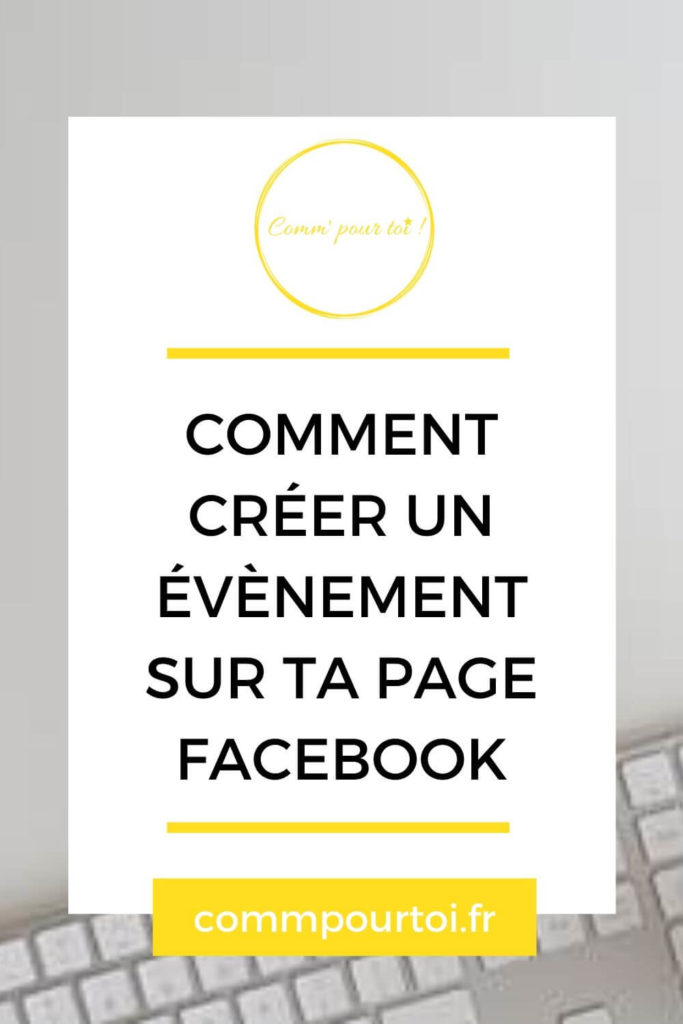créer évènement Page facebook
