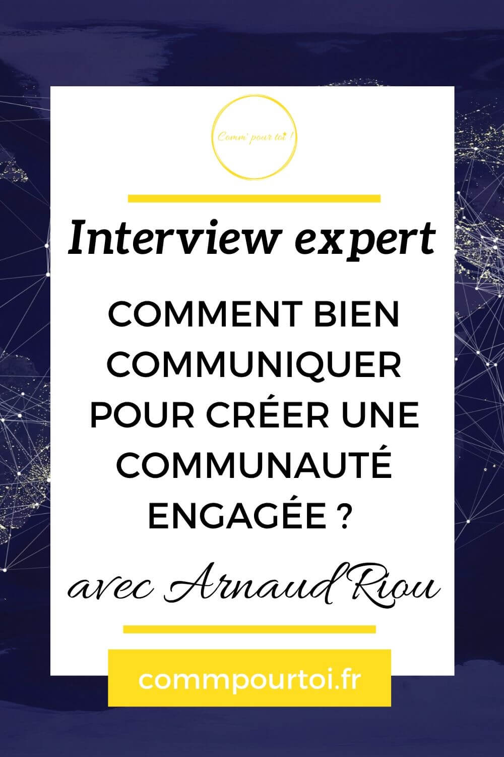 Interview Arnaud Riou