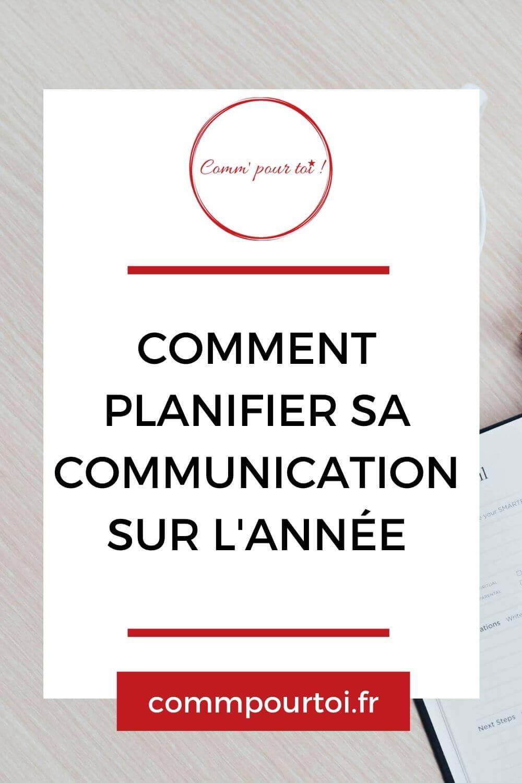 Comment planifier sa communication sur l'année