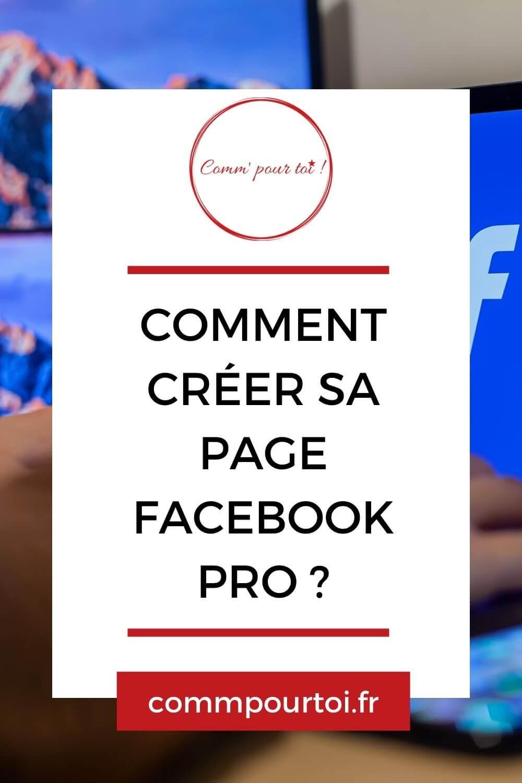 créer sa page facebook pro